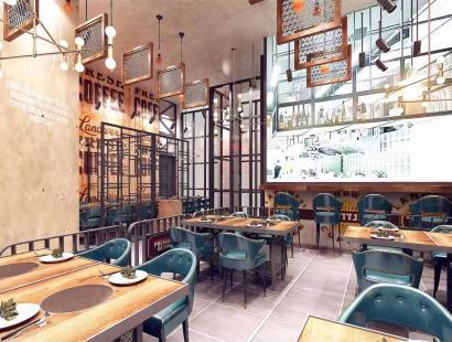 风格餐厅效果图